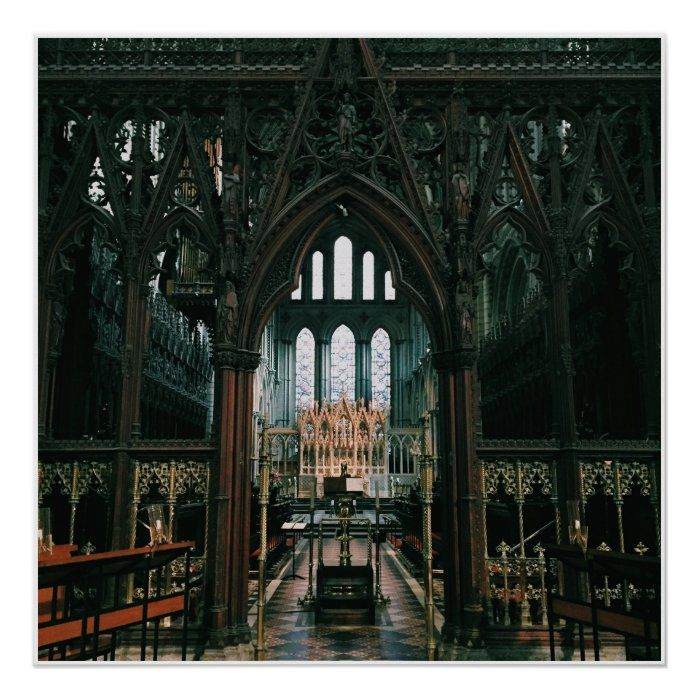 A view of Ely's Cathedral from indoors, England
