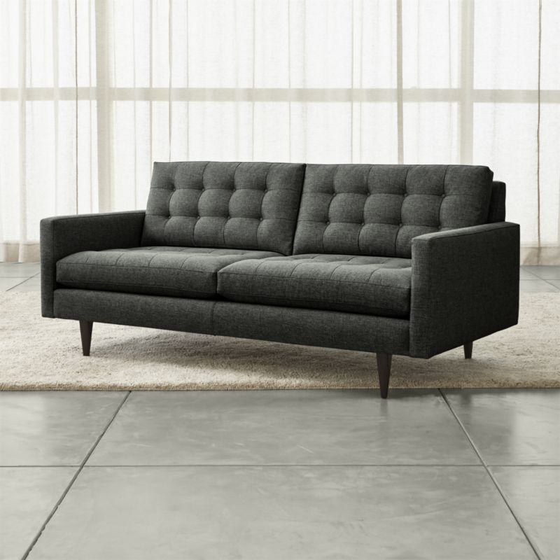 petrie midcentury apartment sofa in 2019 design sofa leather rh pinterest com petrie apartment sofa dimensions petrie small apartment sofa by crate and barrel