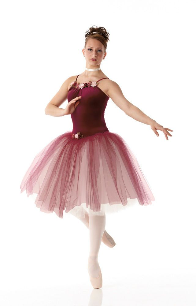33afc7f20721 KISS FROM A ROSE Romantic Ballet Tutu CHRISTMAS Dance Costume Child ...