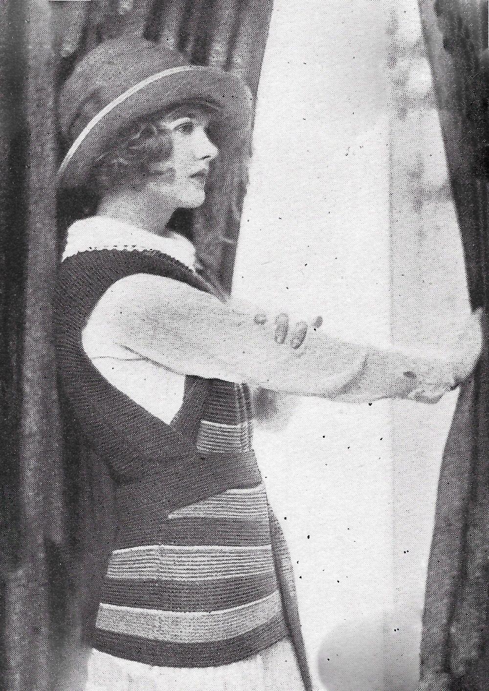 1922 pullover sweater vest striped 1920s vintage knitting ...