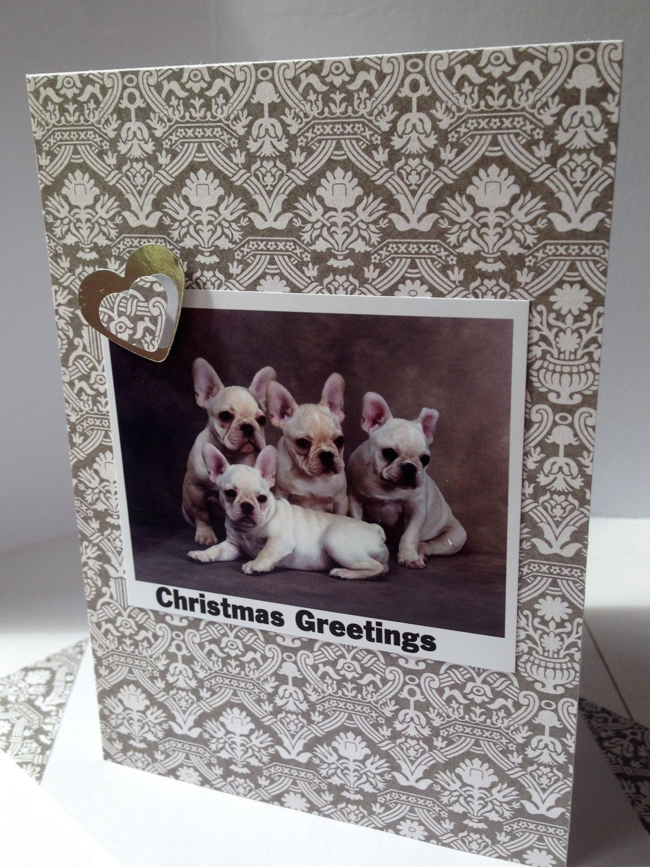 French Bulldog Christmas Dog Card Handmade Greetings Card