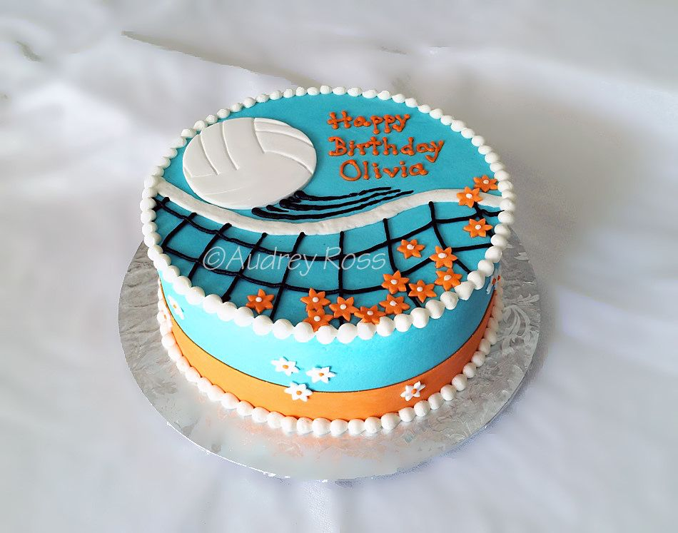Volleyball Birthday Cake cake decorating Pinterest Volleyball