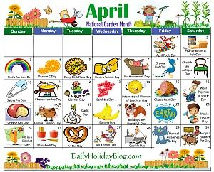 Daily Holiday Calendar.Monthly Holidays Calendars To Upload April Holiday Calendar