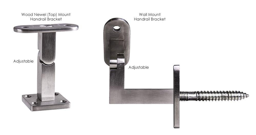 Best Stair Hardware Stair Hardware Handrail Brackets Wood 640 x 480