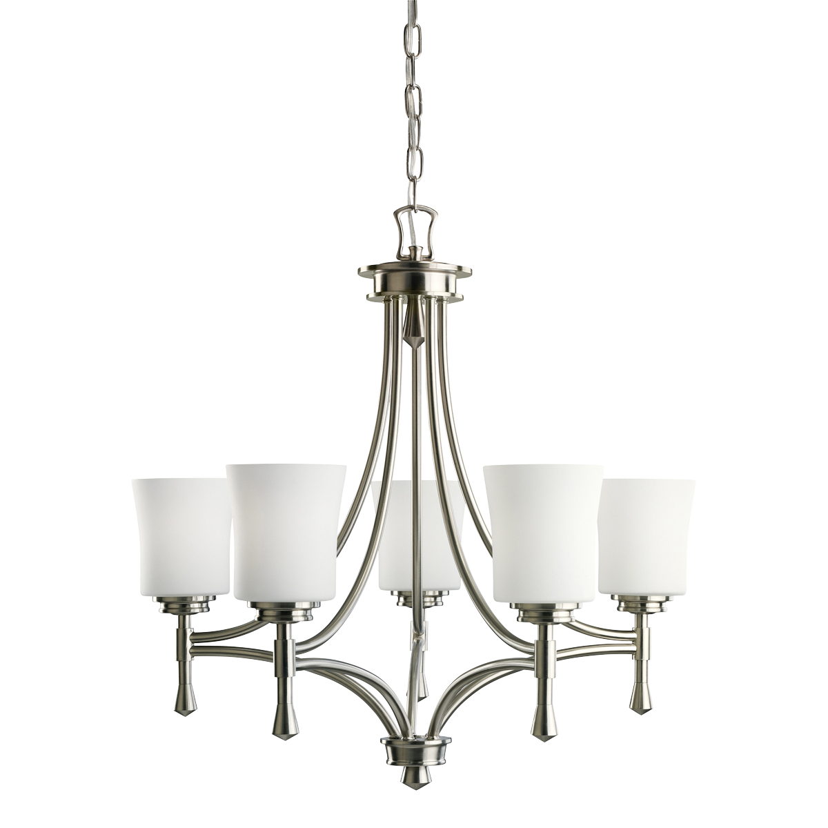 Brushed Nickel Dining Room Light Fixtures 5 Light Chandelier In Brushed Nickel  Wharton Collection