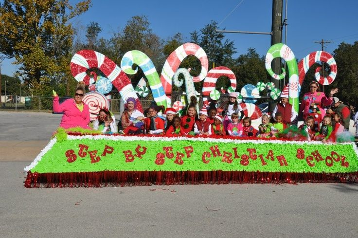 Christmas Float Ideas.Candy Canes Christmas Parade Float Christmas Parade