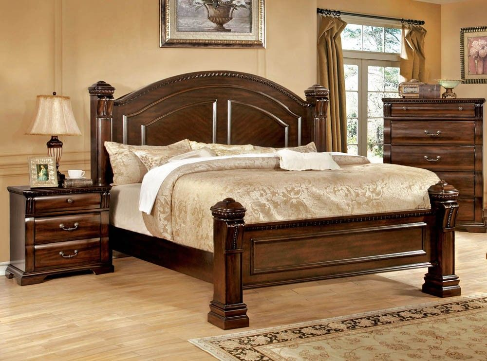 Montrose Traditional Bed With Night Stand | camas | Pinterest | Camas