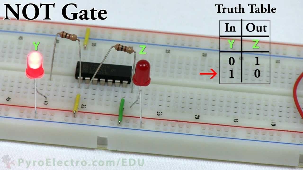 Logic Gates An Introduction To Digital Electronics Pyroedu Gate Circuit Into Or