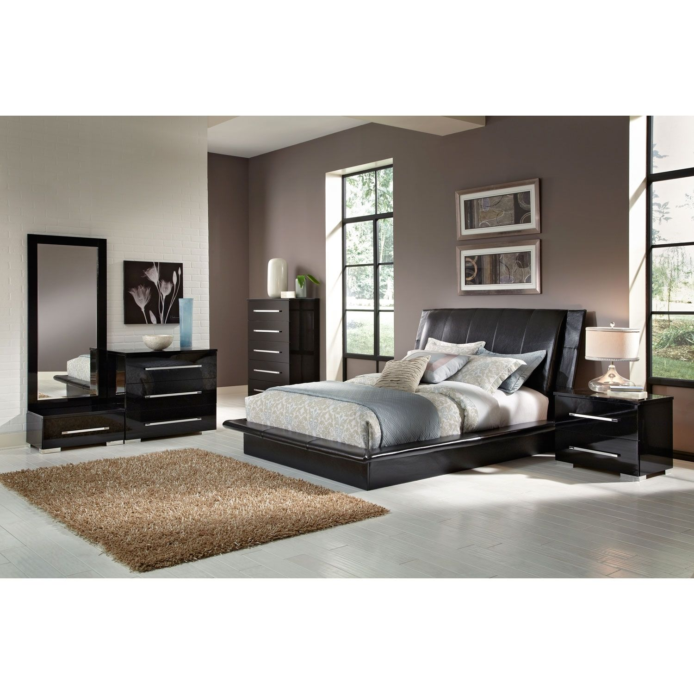 Bedroom Furniture   Dimora Black 7 Pc. Queen Bedroom (Alternate)
