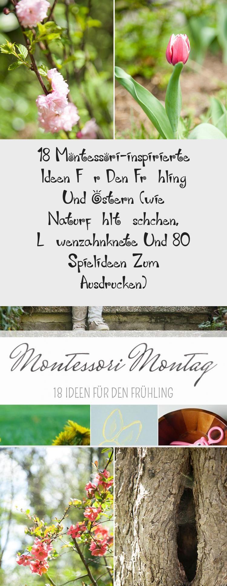 18 montessori-inspirierte Ideen für den Frühling und Ostern (wie Naturfühltä…