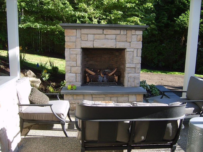 Small Outdoor Fireplace