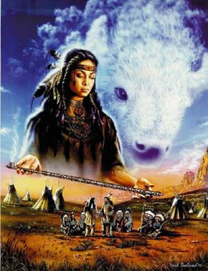 a legend of the holy woman pte ska win in the lakota tribe Pte ska win is her lakota name and the story goes that she appeared to a few lakota men about the story goes that a couple lakota men were out in the black hills of south dakota, hunting for the lakota man did warn his people and the woman came to the lakota tribe when she said she.