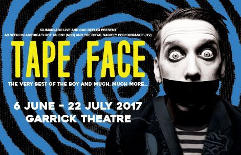 Tape Face theatre tickets - Garrick Theatre - Join Tape Face as he brings his uniquely hilarious and moving comedy to London in a multi-award winning spectacle that needs to be seen to be believed. For 7 weeks only, catch this spectacular modern  http://www.comparestoreprices.co.uk/january-2017-3/tape-face-theatre-tickets--garrick-theatre-.asp