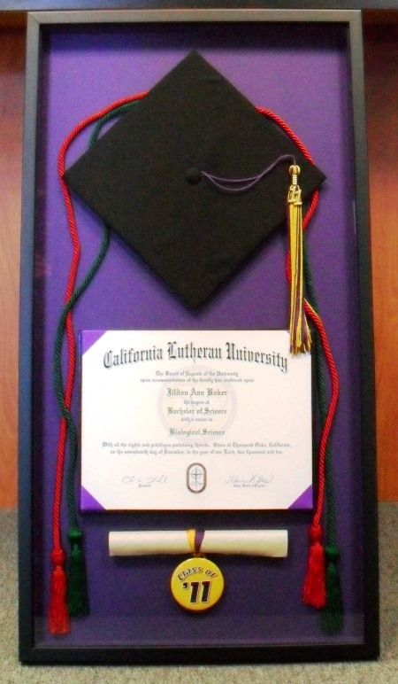 Cal Lutheran Graduation Shadow Box Diplomas And Awards