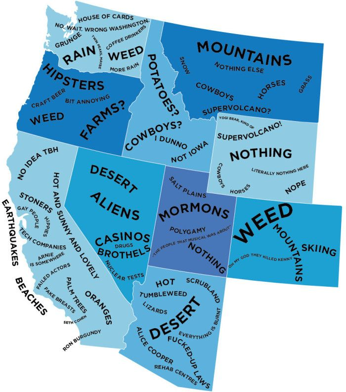 6 Maps Of Washington That Are Just Too Perfect And Hilarious