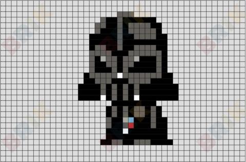 Darth Vader Pixel Art Pixel Art Geek Cross Stitch Pixel