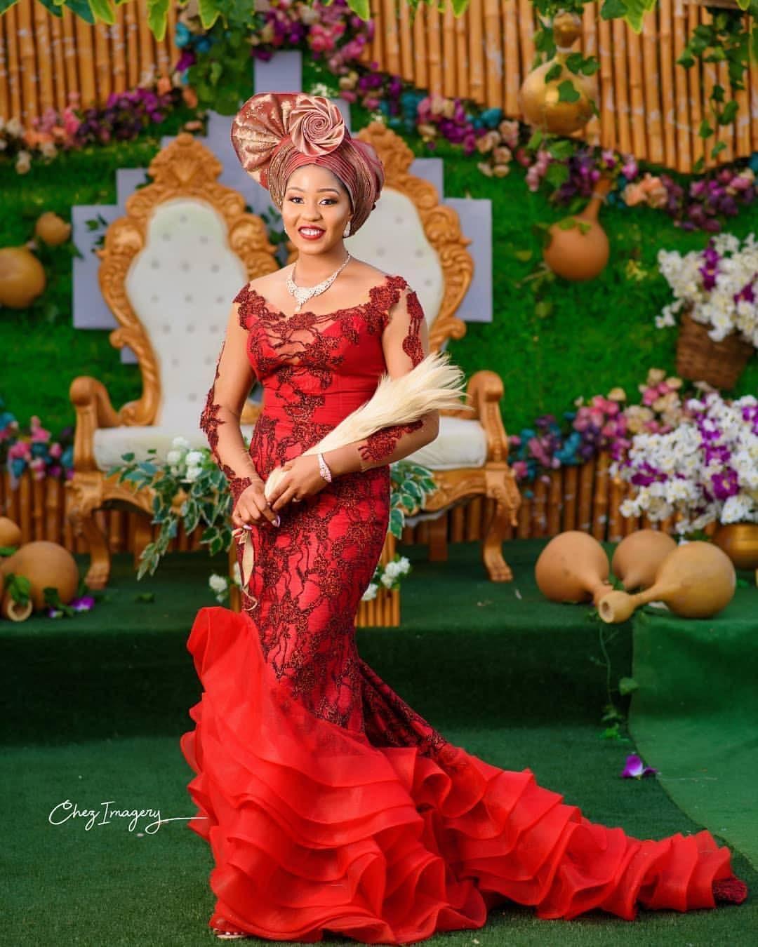 Igboweddingng On Instagram Beautiful Chiọma Asa Maru Over Daila19 Decor In 2020 With Images African Bridal Dress Traditional Wedding Attire African Traditional Wedding