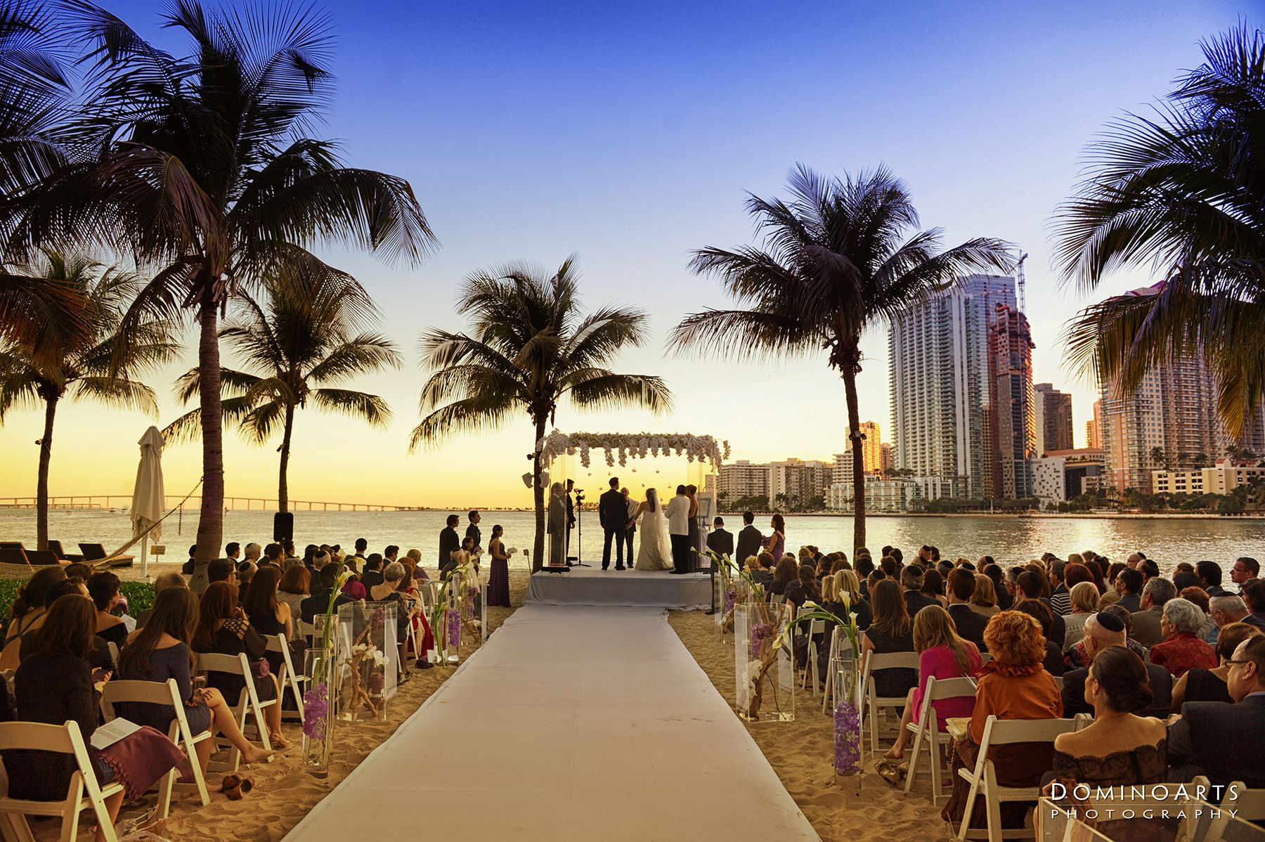 Alana and Adiels Miami Sunset Wedding Alana married the love of