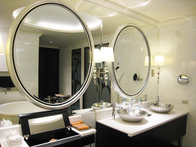 283 round bathroom mirrors hotel style http lanewstalk for Bathroom mirror trends