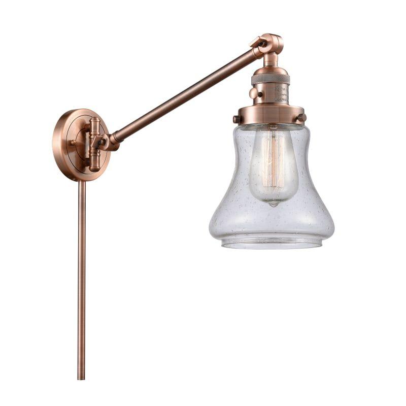 Photo of Innovations Lighting 237 Bellmont Bellmont Single Light 25″ Tall Bathroom Sconce Antique Copper / Seedy Indoor Lighting Bathroom Fixtures Bathroom