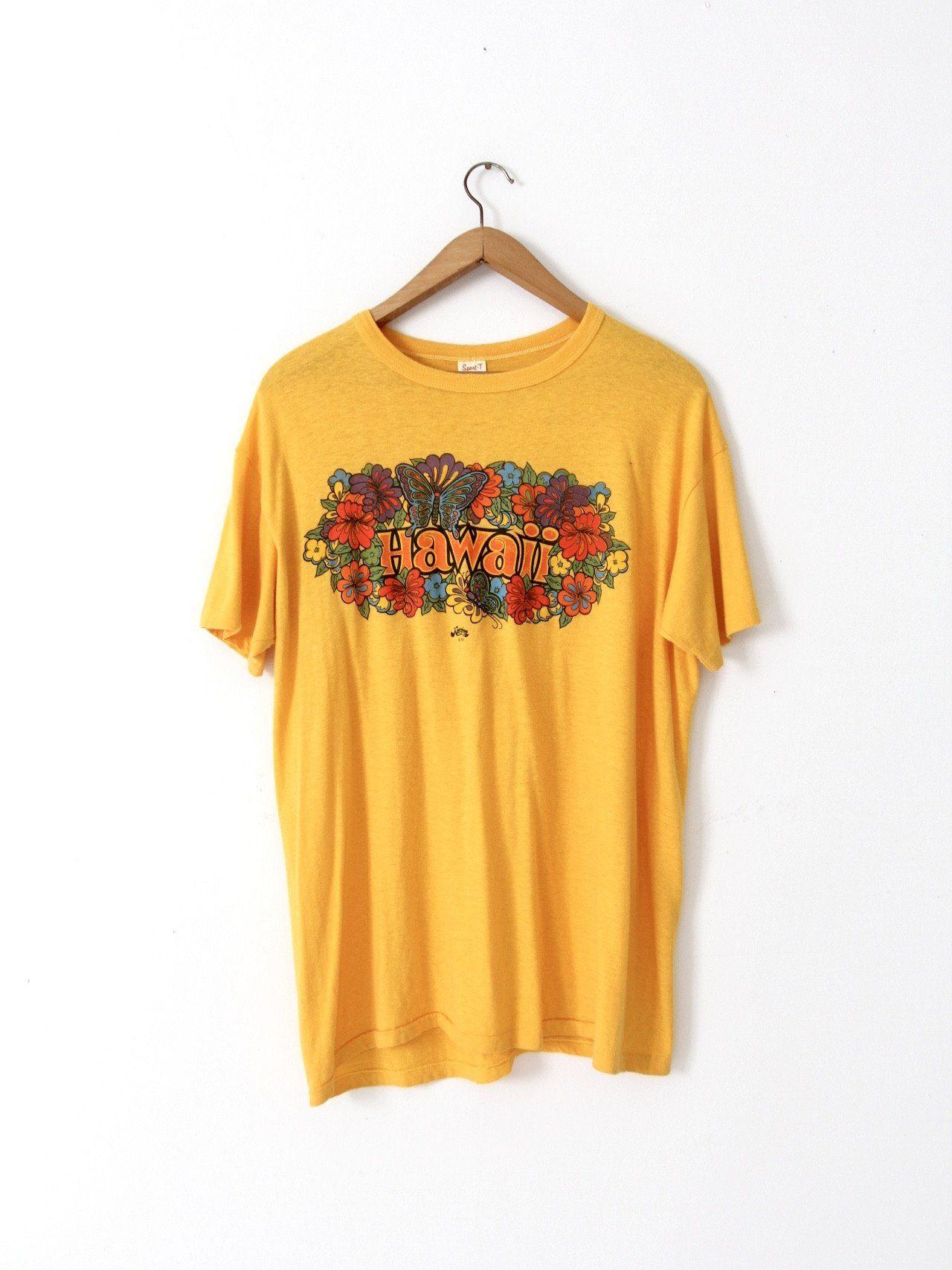 b0c4693c vintage 70s Hawaii graphic t-shirt | Products | Vintage hawaii, T ...