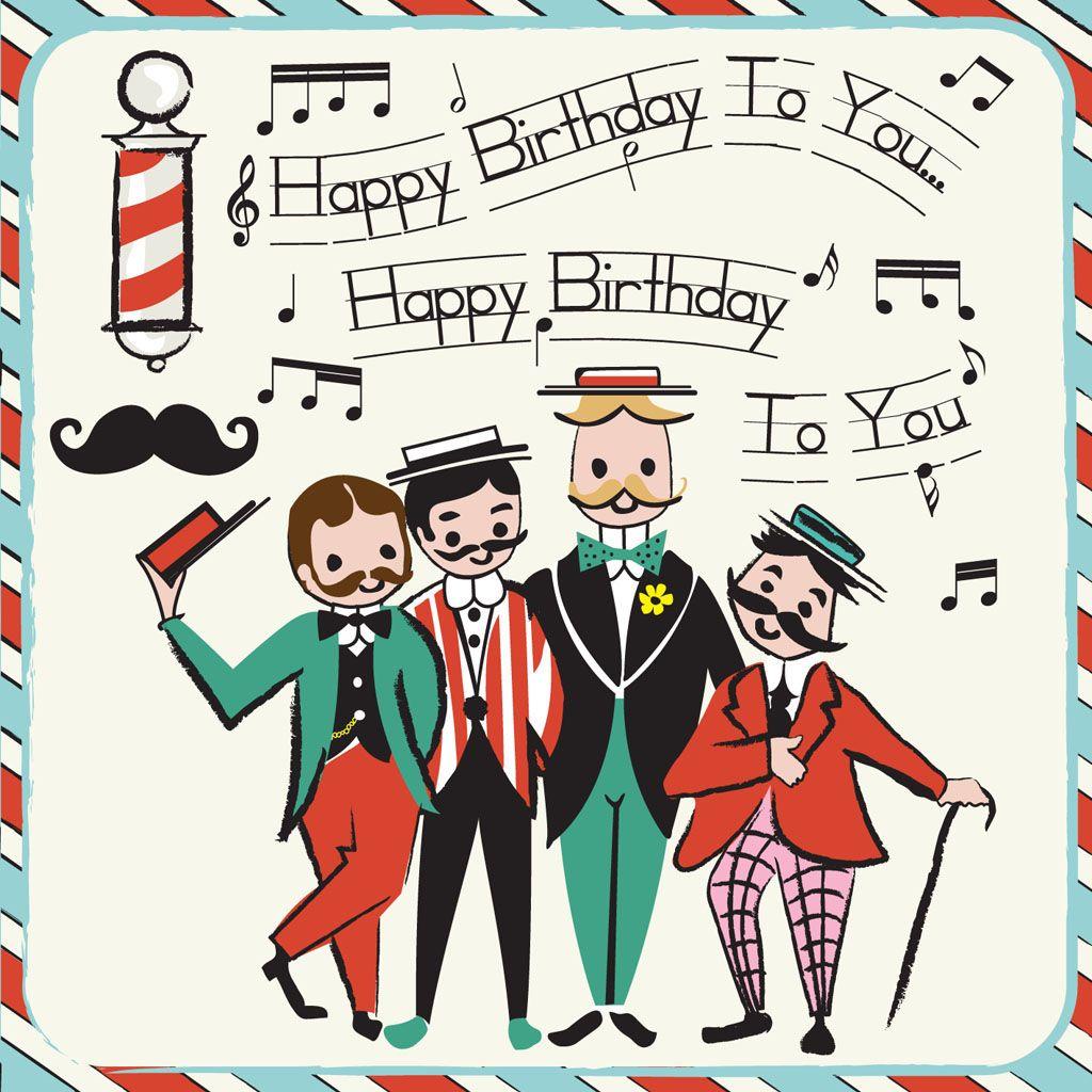 Barber Shop Birthday Birthday cards, Birthday greeting