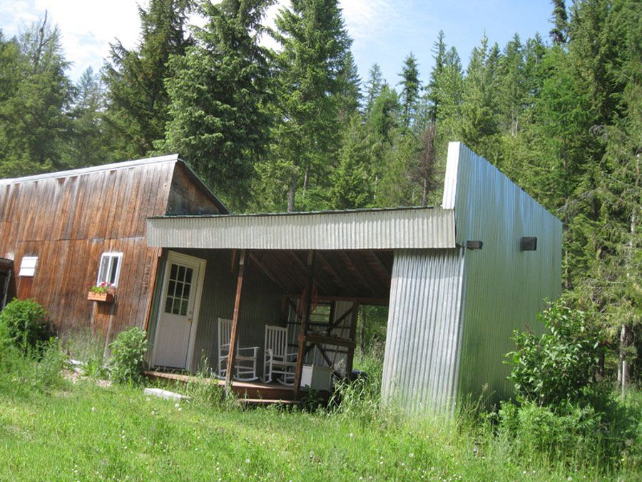 An old shed remodeled into a tiny house in Sandpoint Idaho