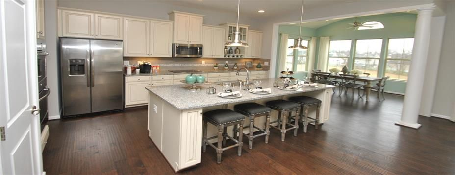 White cabinets with seafoam morning room New Homes for sale at – Ryan Homes Springhaven Floor Plan