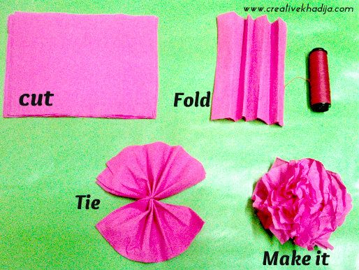 How To Make Colorful Crepe Paper Flowers For Decoration Paper
