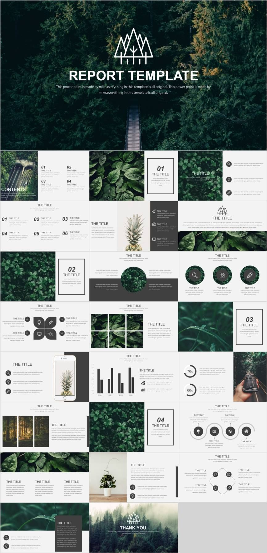 Best natural ecosystem report PowerPoint template