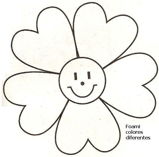 Moldes De Flores De Foami Para Imprimir Imagui Flores De Tela