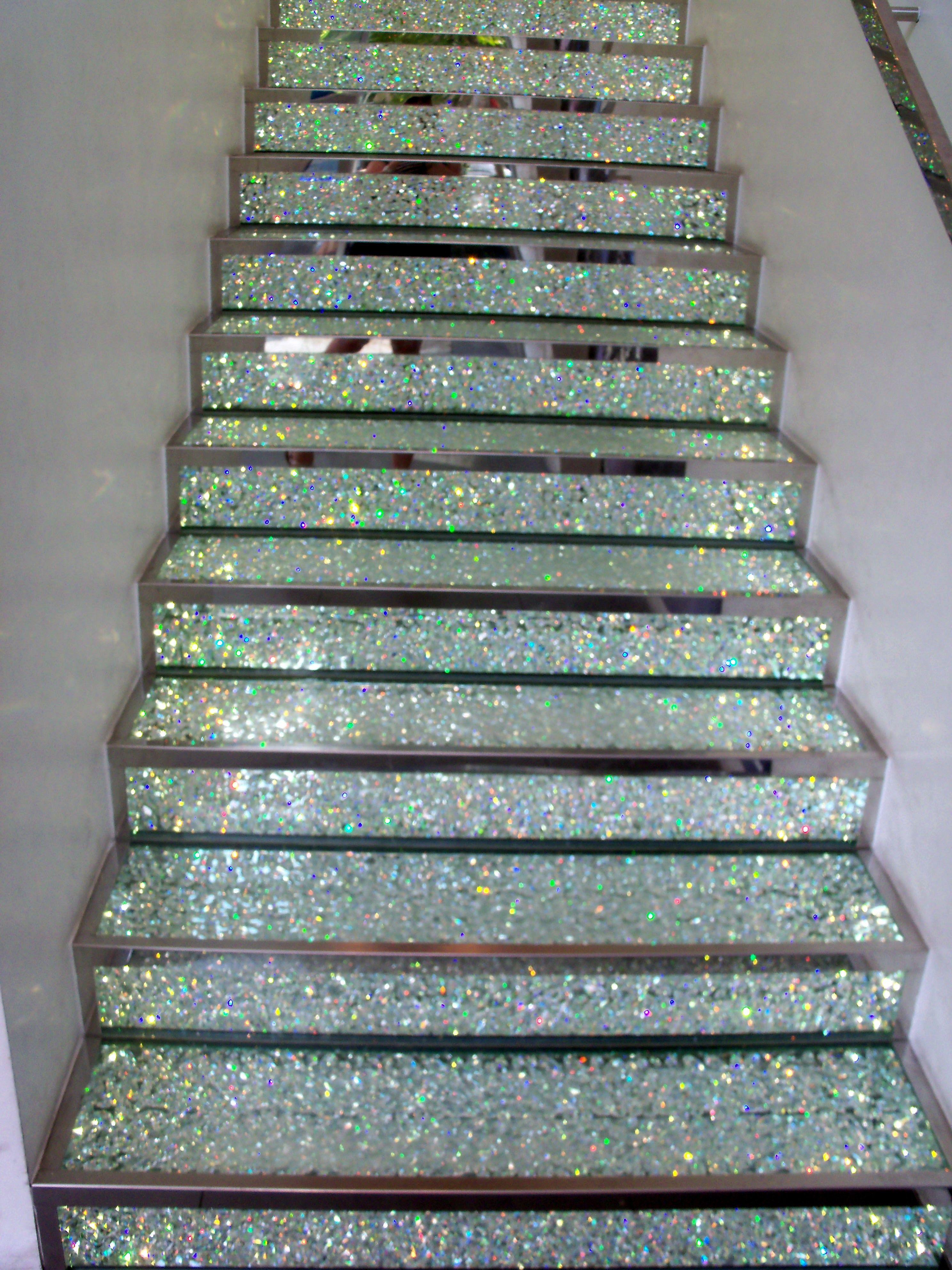 Glittery Diamond Staircase Swarovski Store In Paris