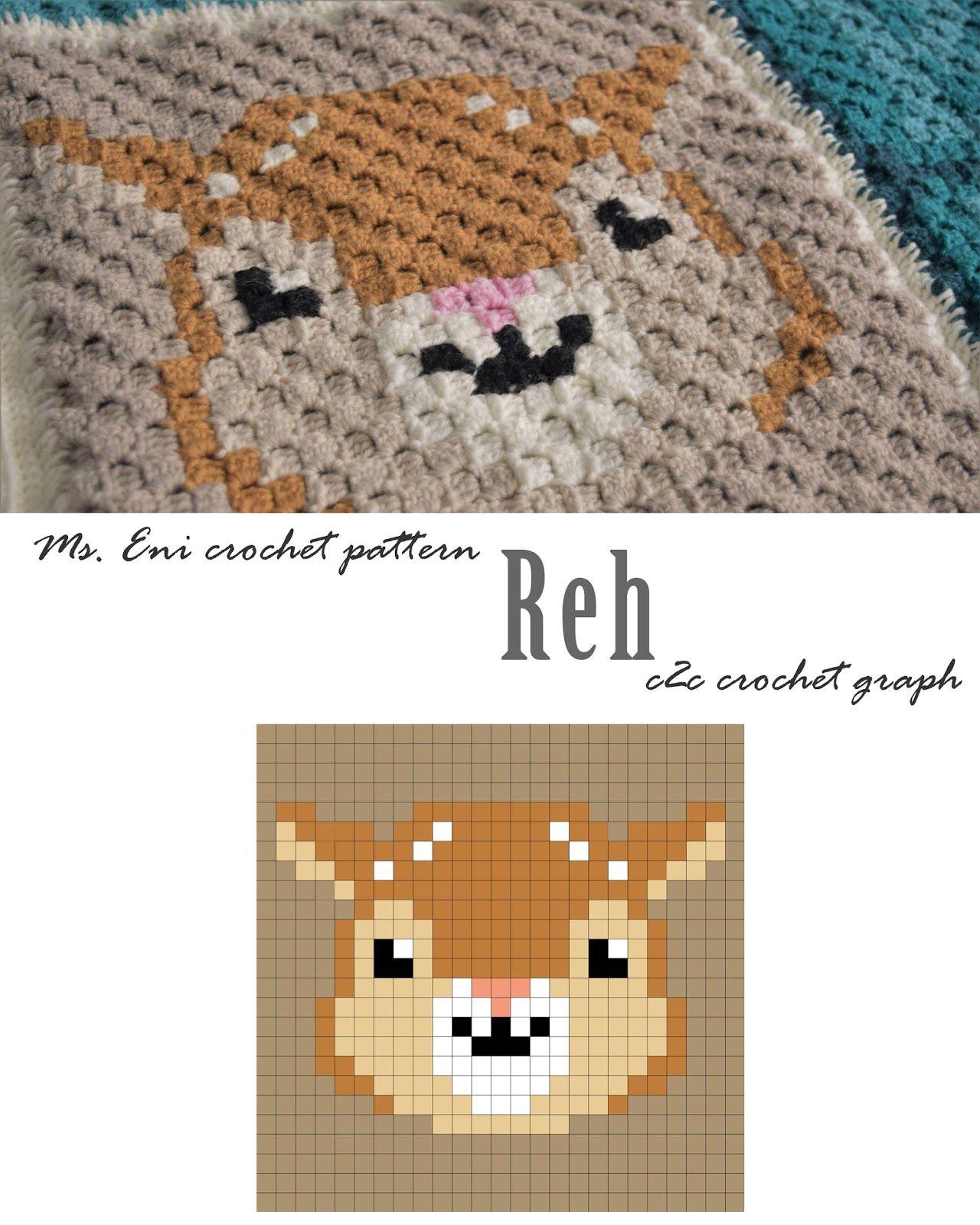 c2c - Vorlage Reh   Stitch and Crochet