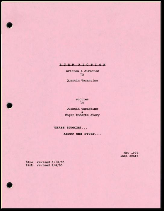 Vanity Fair Pulp Fiction Film Script Layout Essay