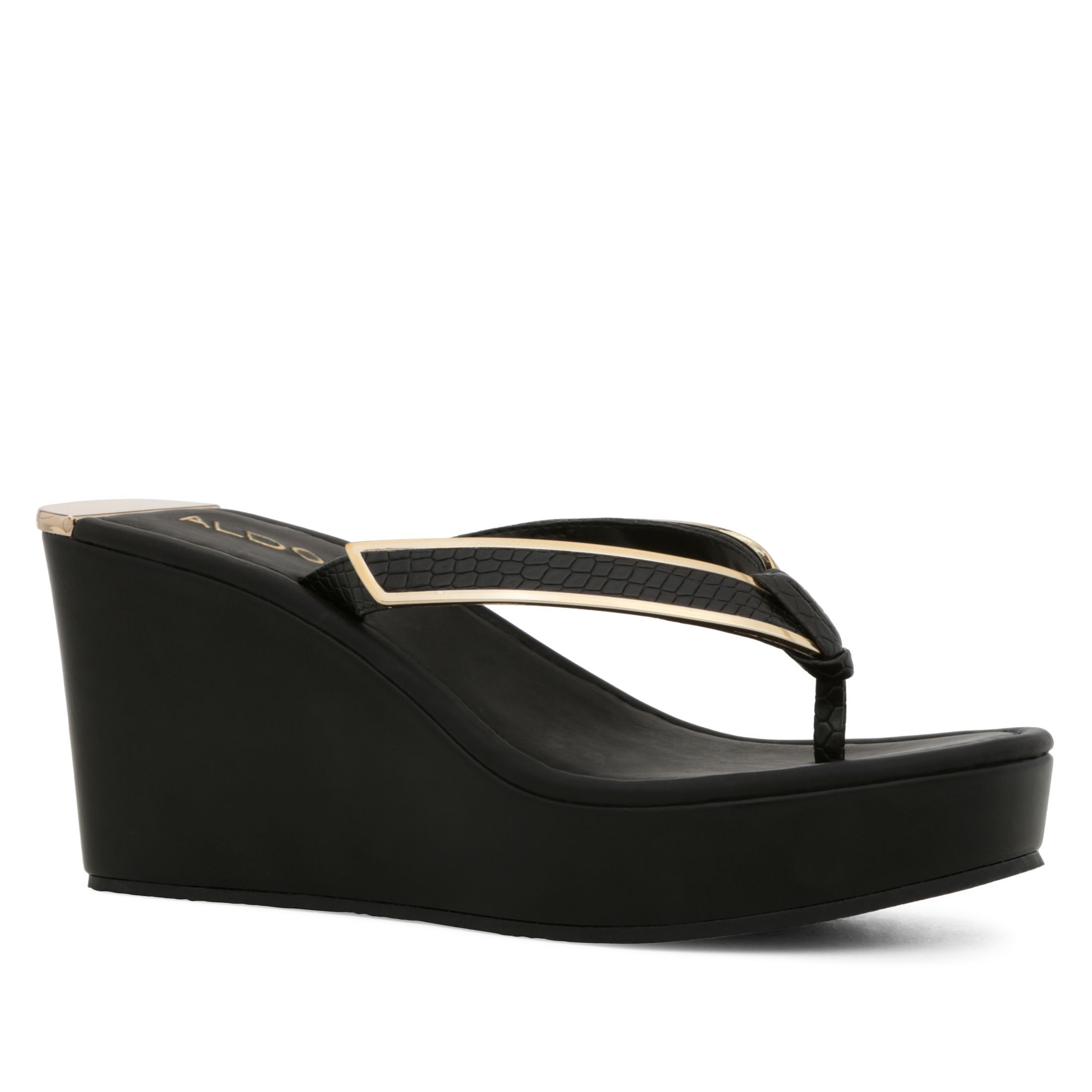 Womens sandals wedges - Aldo Jeroasien Wedge Sandal Black