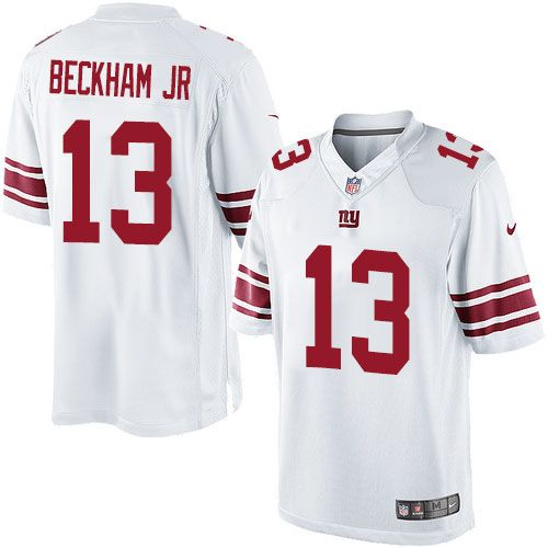 18b77620d Nike Limited Odell Beckham Jr White Men s Jersey - New York Giants  13 NFL  Road
