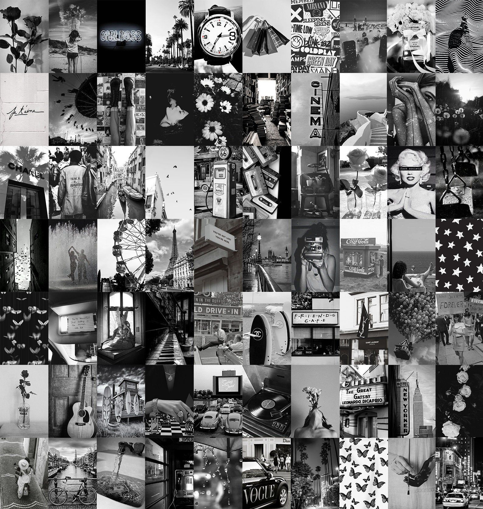Pin By Gabriell Zeno On Weedale In 2021 Photo Wall Collage Black And White Photo Wall Black And White Picture Wall