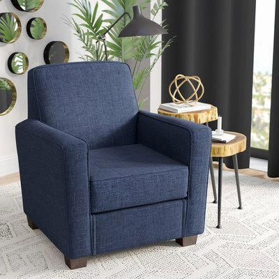 latitude run ramsay contemporary armchair upholstery navy rh pinterest com