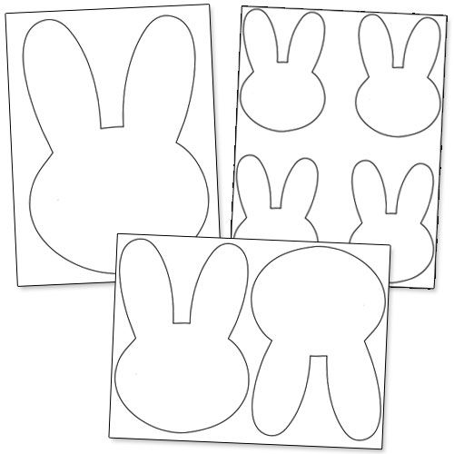 Printable Bunny Template from PrintableTreats.com | Easter ...