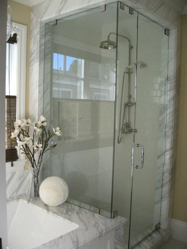 Nice steam shower - but without the built in bench | Modern Bathroom ...