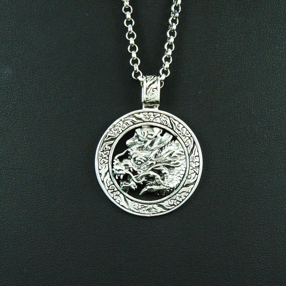 ksvhs versus lion steel police duality drawing mens p necklace stainless silver medallion jewellery easy fancy psb men