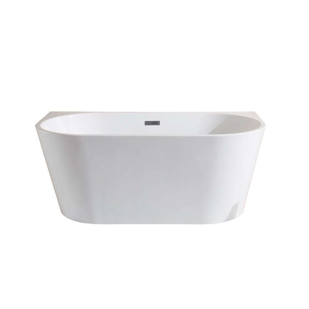 5 Ft Manchester White Acrylic Seamless Freestanding Bathtub