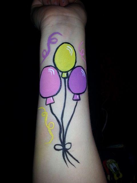 Simple / easy balloon face paint #balloon #balloons #party ...
