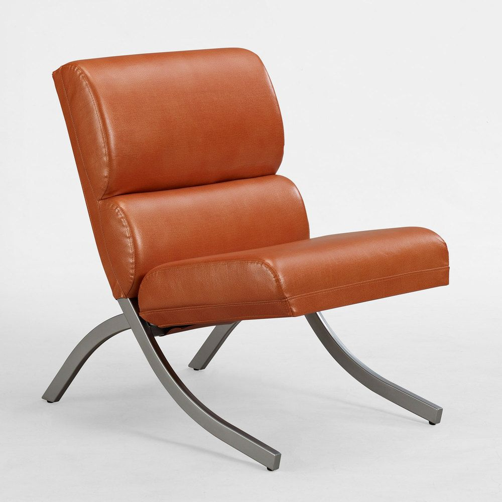 Rialto Rust Faux Leather Chair: Bedding, Furniture, Electronics, Jewelry