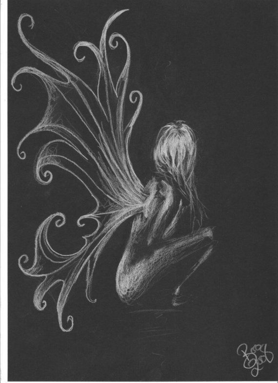 Fairy art nude sketch by Boo by artbyboo on Etsy