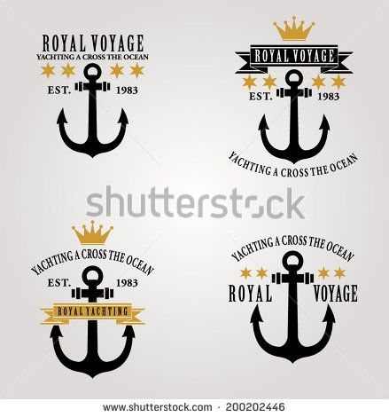 VINTAGE NAUTICAL BADGES AND LABELS OR PRINT