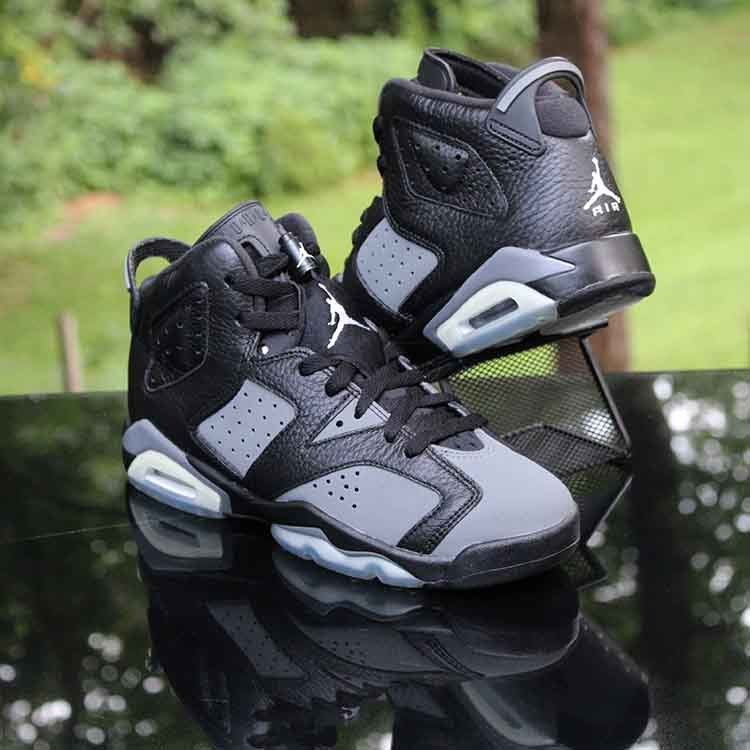 detailed look f0f84 feea0 ... amazon air jordan vi 6 retro gs cool grey black icy blue 384665 010  size 5.5
