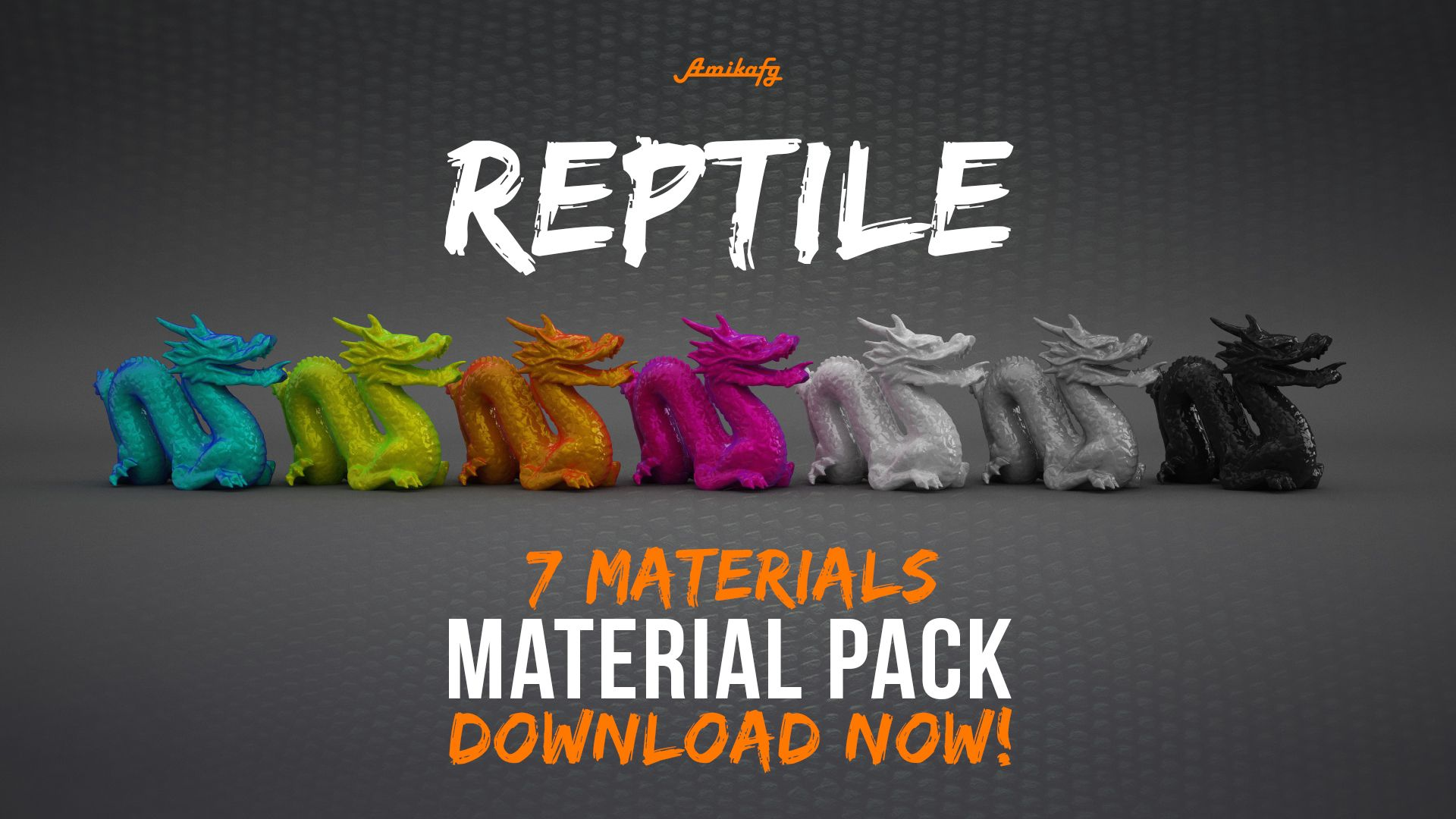 Cinema 4D Reptile Materials Pack (Free Download) by Amikafy
