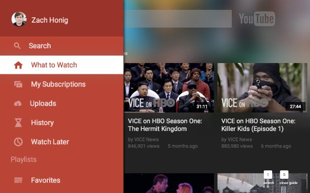 YouTube refreshes television app for settop boxes, game
