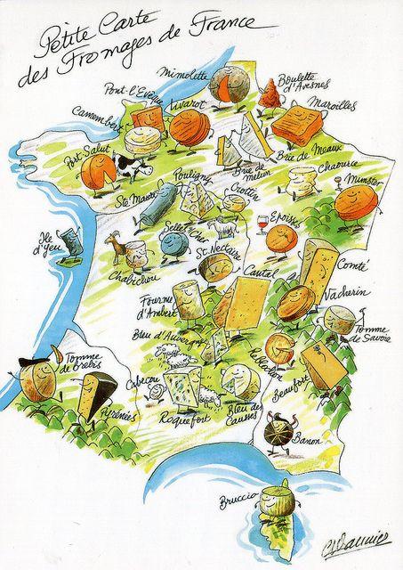 Petite carte des fromages de france fromages pinterest - Fabricant de cuisine en france ...
